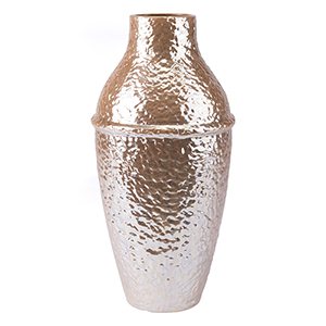 Textured Large Vase Pearl Yellow