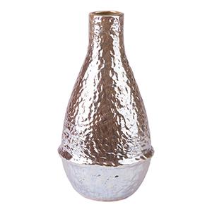 Textured Medium Vase Pearl Yellow