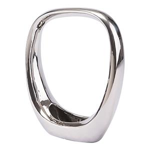 Oval Figurine Medium Silver