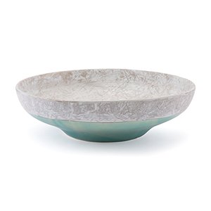 Azte Bowl Gray and Teal