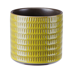 Cylinder Planter Small Olive Green