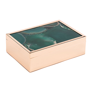 Green Stone Box Large Green