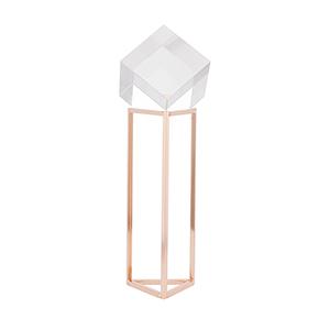 Lucite Cube Triangle Smallall Gold