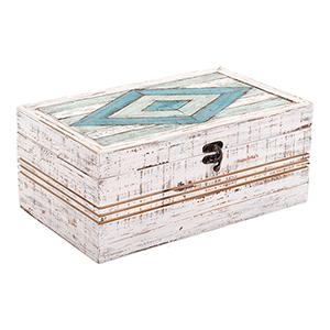 Rombo Rectangular Box White