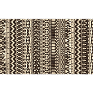 Washable Indoor/Outdoor Stain Resistant Espresso Rectangular: 3 Ft. x 5 Ft. Rug Set