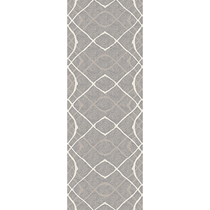 Washable Indoor/Outdoor Stain Resistant Gray Runner: 2.5 Ft. x 7 Ft. Rug Set