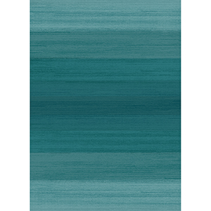 Washable Indoor/Outdoor Stain Resistant Blue Rectangular: 5 Ft. x 7 Ft. Rug Set