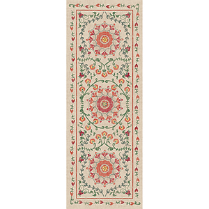 Washable Indoor/Outdoor Stain Resistant Coral Runner: 2.5 Ft. x 7 Ft. Rug Set
