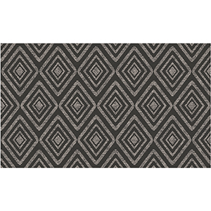 Washable Indoor/Outdoor Stain Resistant Black Rectangular: 3 Ft. x 5 Ft. Rug Set