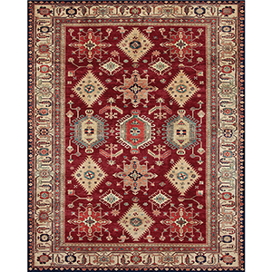 Washable Indoor/Outdoor Stain Resistant Ruby Runner: 2.5 Ft. x 7 Ft. Rug Set