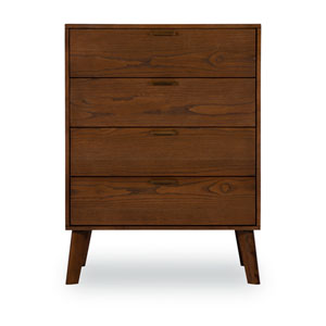 Ian Walnut Four Drawer Chest