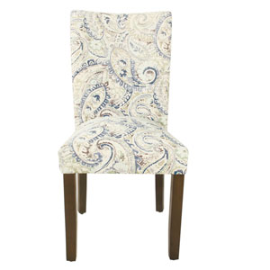 Classic Parsons White and Dark Walnut Dining Chair, Set of 2