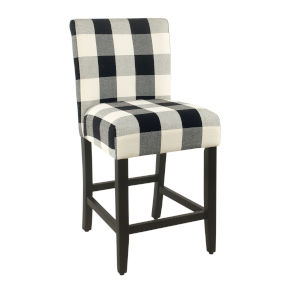 Black Wood Classic Parsons Counter stool