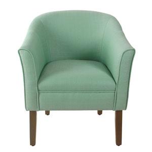 Modern Barrel Textured Aqua Accent Chair