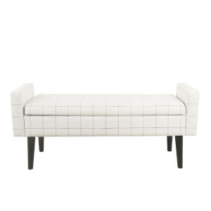 White and Black 48-Inch Bench