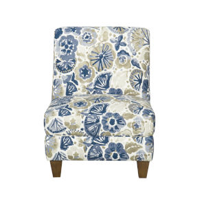 Blue and Tan 27-Inch Accent chair