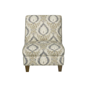 Blue and Cream 27-Inch Accent chair