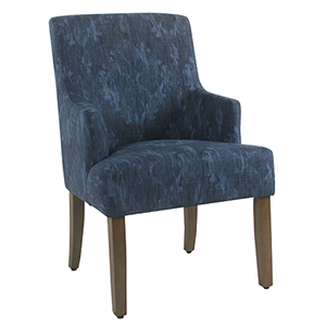 Patterned Indigo Dining Chair