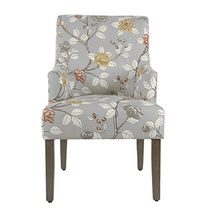 Dove Floral Dining Chair