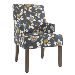 Navy Floral Dining Chair