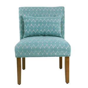 Parker Accent Chair with Pillow - Textured Teal