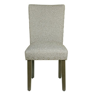 Classic Parsons Chair with Nailhead Trim - Sterling Grey (Set of 2)