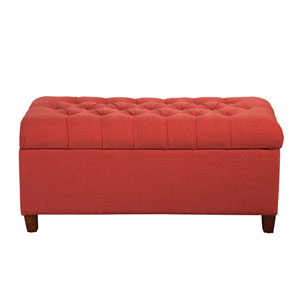 Storage Bench, Cranberry Red
