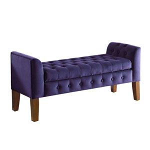 Storage Bench, Purple Velvet