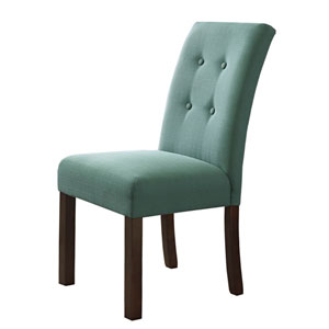 Parsons Chair, Textured Aqua, Set of Two