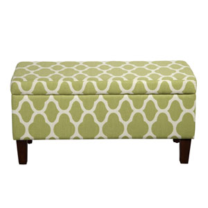 Storage Ottoman, Green Apple
