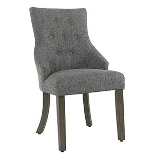 Tufted Slate Gray Dining Chair