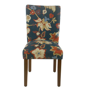 Parsons Dining Chair -Navy Floral - set of 2