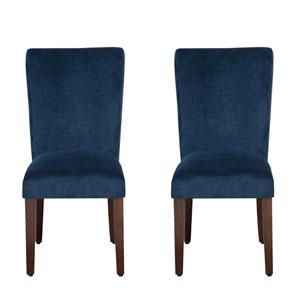 Parsons Chair, Navy Velvet, Set of Two