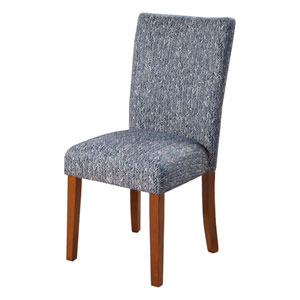Parsons Chair, Blue and White Set of Two