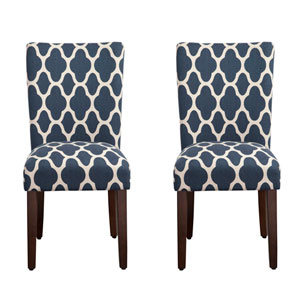 Parsons Chair, Navy Blue, Set of Two