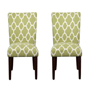 Beau Parsons Chair, Green Apple, Set Of Two
