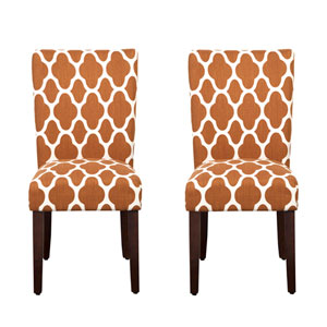 Parsons Chair, Rust, Set of Two