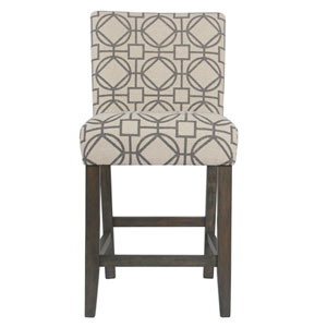 Classic Parsons Counter Stool - Gray Lattice