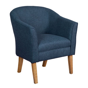 Accent Chair, Navy
