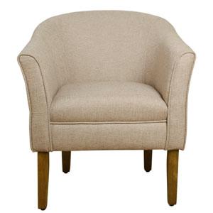 Modern Barrel Accent Chair - Flax Brown