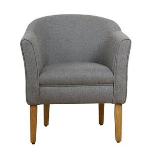 Modern Barrel Accent Chair - Charcoal