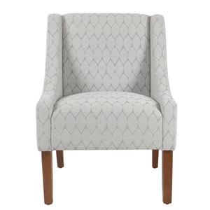 Modern Swoop Accent Chair   Textured Grey