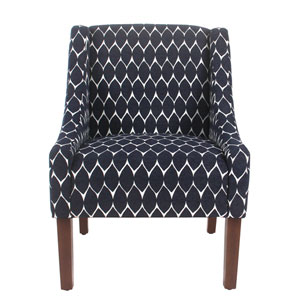 Modern Swoop Accent Chair - Textured Navy