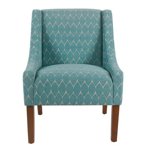 Modern Swoop Accent Chair - Textured Teal