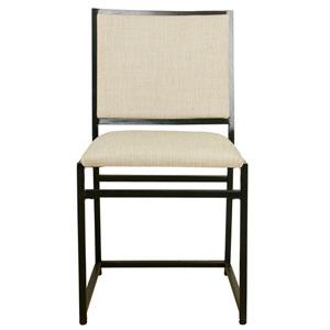 Industrial Metal Dining Chair - Burlap