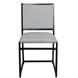 Industrial Metal Dining Chair - Dove