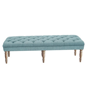 Lila Tufted Bench - Blue