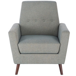 Tufted Mid Mod Accent Chair - Teal