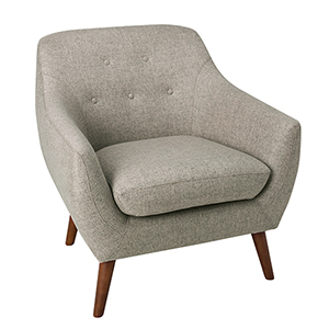 Modern Tufted Gray Accent Chair