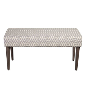 Decorative Bench, Gray and Taupe